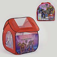 Палатка детская Трансформеры 8009 TF (48/2) 112х102х114 см в сумке
