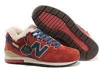Женские зимние кроссовки New Balance 996 красные