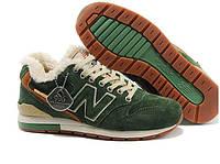 Женские зимние кроссовки New Balance 996 зеленые