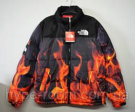 Мужская зимняя куртка The North Face огонь