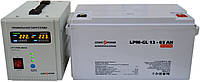 Комплект резервного питания ИБП Logicpower LPY-PSW-500 + АКБ LP-GL65 для 5-7ч работы газового котла, фото 1