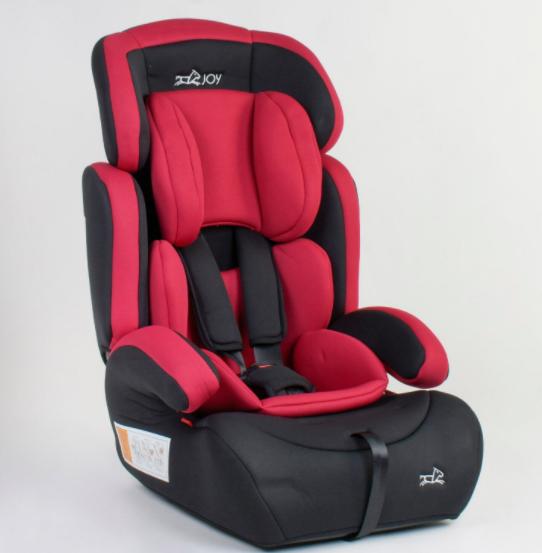 Автокресло детское универсальное JOY 94926 группа 1-2-3 / вес ребенка 9-36 кг / цвет красный