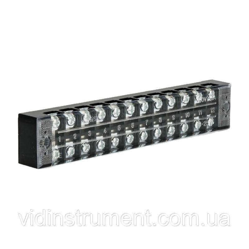 ElectroHouse Клеммная колодка в корпусе 25А 12 клемм. пар, термопластик