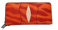 Кошелек женский оранжевый сделанный из искусственной кожи, фото 1