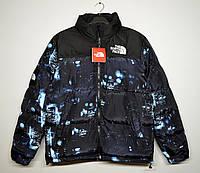 Мужская зимняя куртка The North Face ночной город, фото 1