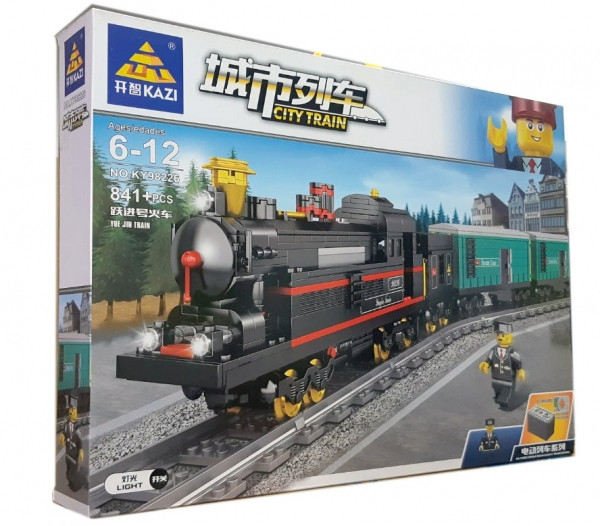 Конструктор Kazi 98226 «Грузовой поезд», 841 дет.