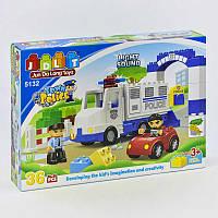 Конструктор JDLT 5132 (12/2) Поліцейську дільницю 36 деталей 2 фігурки світло звук в коробці