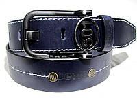 Мужской кожаный ремень Левис LEVIS  LEVI'S (синий)