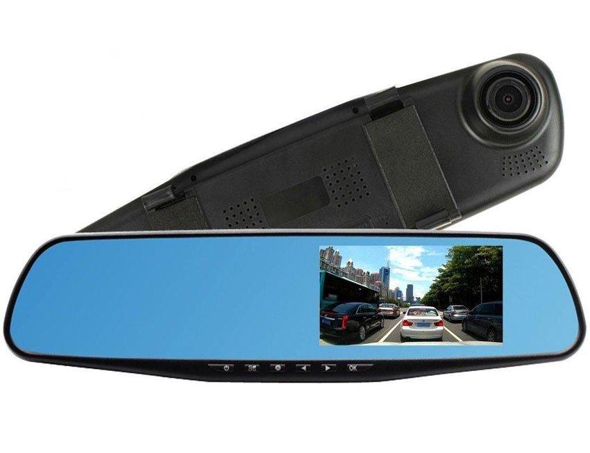 """Автомобильный видеорегистратор зеркало L-9002 2 камеры, 1080 Full HD, экран 4,3"""""""