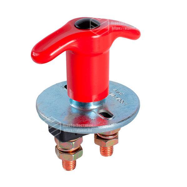 Выключатель массы универсальный, механический 12/24В (красная медь) 100A
