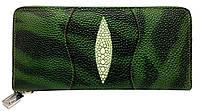 Кошелек женский зеленый сделанный из искусственной кожи, фото 1