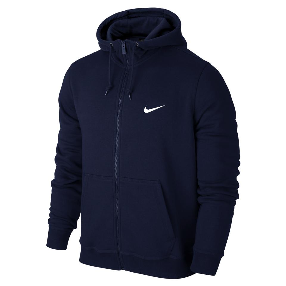Мужская спортивная кофта кенгуру, толстовка Nike (Найк) на молнии синяя