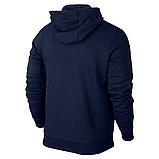 Мужская спортивная кофта кенгуру, толстовка Nike (Найк) на молнии синяя, фото 2