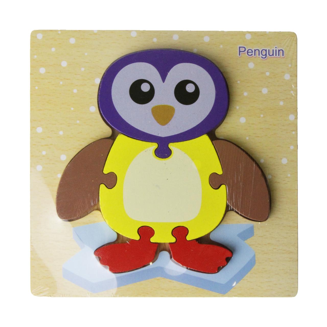 Деревянная игрушка Пазлы MD 2453-1 (Пингвин) 15-15см