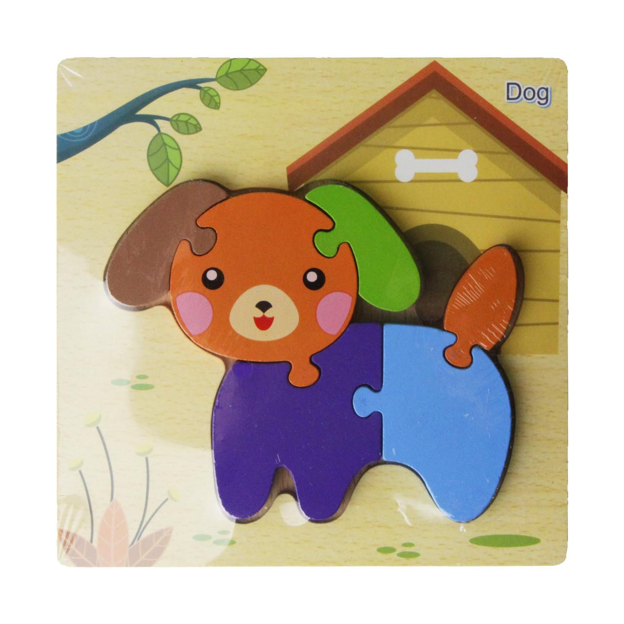 Деревянная игрушка Пазлы MD 2453-5 (Собака) 15-15см