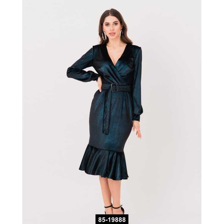 Платья  11245  M черный/голубой, M-S размер международный, 85-19888