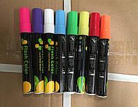 Набор маркеров сухостираемых флюорэсцентных 8 цветов в упаковке