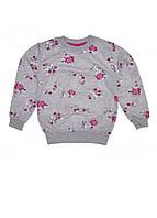 Джемпер детский для девочки с цветочками