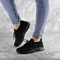 Женские летние кроссовки сетка Fashion Snip черного цвета
