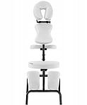 Кресло массажное складное до 130 кг белое, фото 3