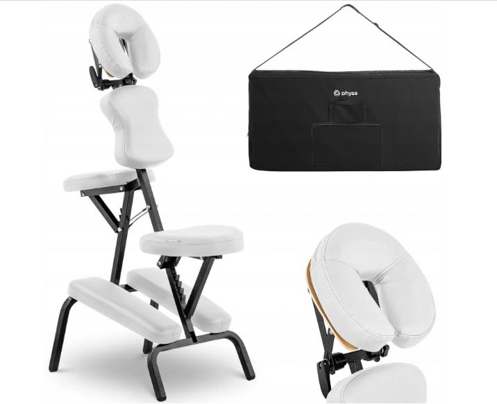 Кресло массажное складное до 130 кг белое