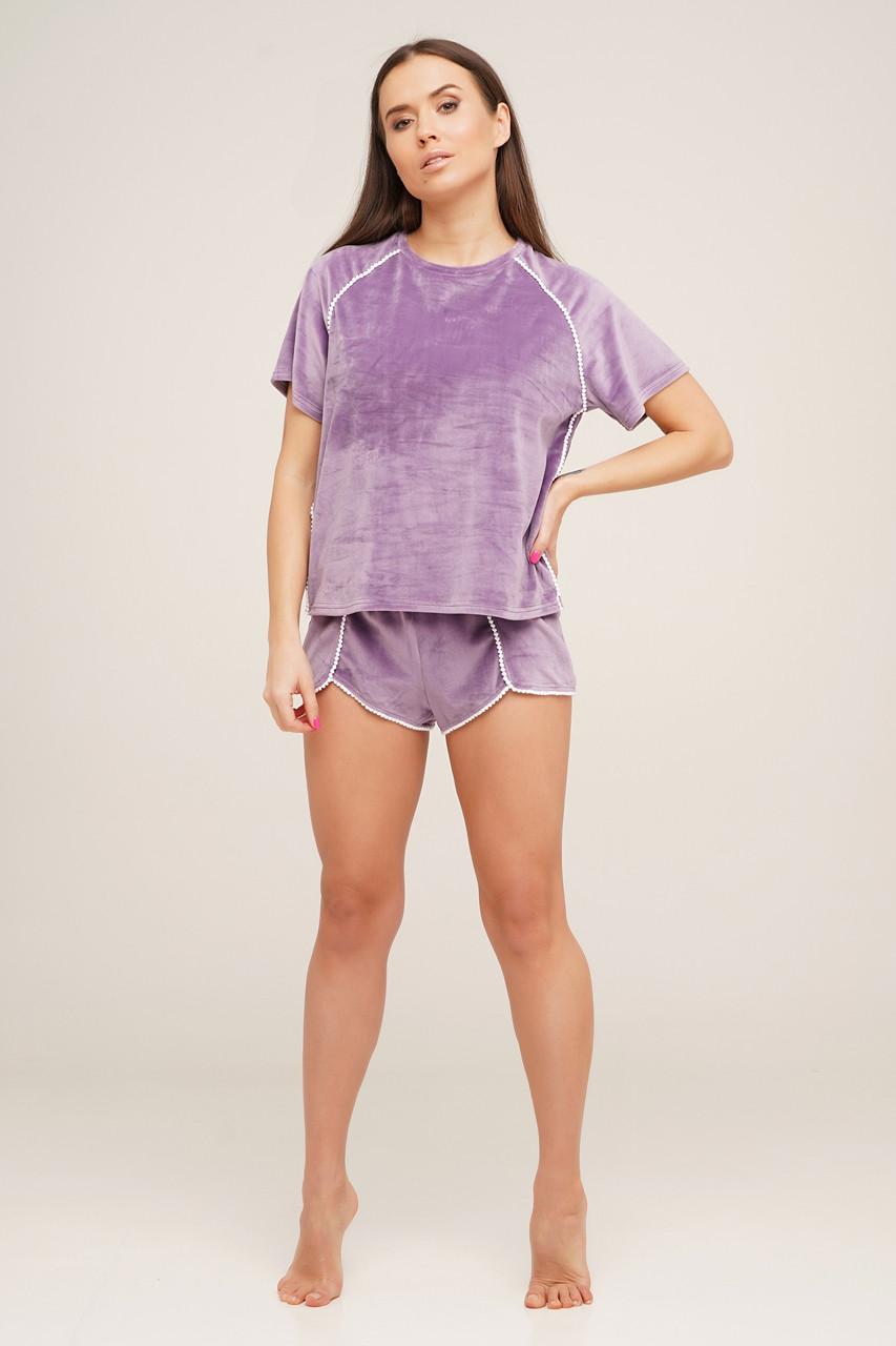 Мягкая  велюровая пижама на хлопковой основе