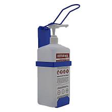 Локтевой дозатор c антисептиком Септоплюс-ультра 1л SK EDW1К WS голубой RAL 5015