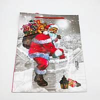 Пакеты подарочные бумажные ламинированные (новый год) супер гигант. 31,5*39,5*9 cm