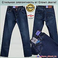 Джинсы мужские классические с косыми карманами бренд Crown
