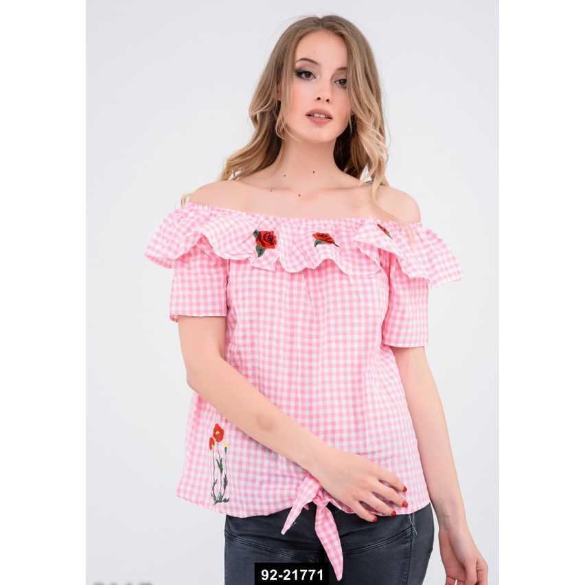 Блузы  5117  L розовый, L-M размер международный, 92-21771