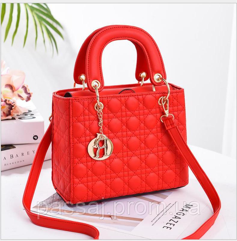 Оригинальная красная сумка Леди Ди