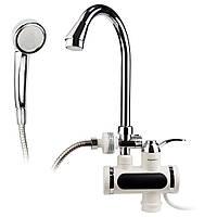 Кран-водонагреватель проточный JZ 3.0кВт 0,4-5бар для ванны гусак ухо на гайке AQUATICA (JZ-6C141W), фото 1