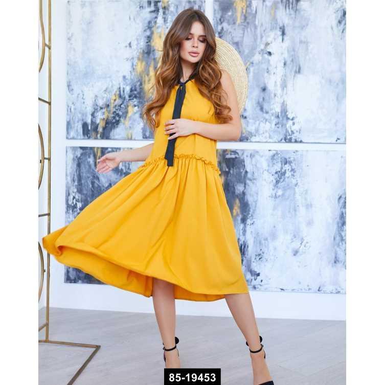 Платья  10725  XL желтый, S-XL размер международный, 85-19453