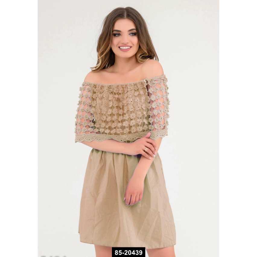 Платья  5484  S коричневый, L-S размер международный, 85-20439