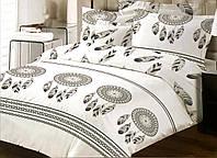 Комплект постільної білизни ТЕП Black Dream бязь 215-150 см білий