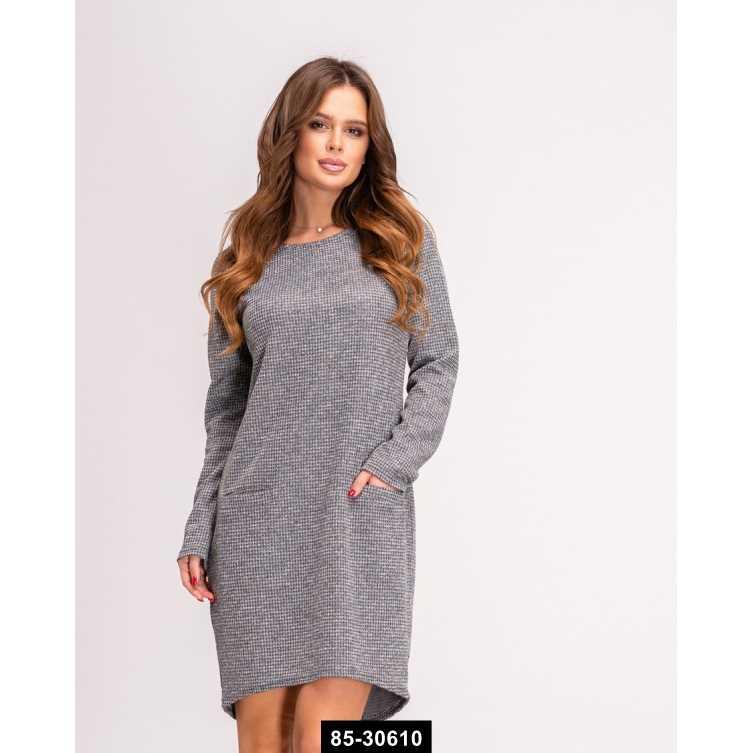 Платья  11137  S серый, M-S размер международный, 85-30610