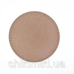 Дно для сумки круглое (16 см), цвет лиловый