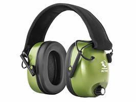 Навушники для стрільби оливкові RealHunter ACTiVE