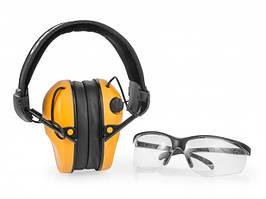 Навушники для стрільби помаранчеві RealHunter ACTiVE + захисні окуляри