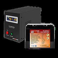 Комплект резервного питания для котла Logicpower B800 + литиевая (LifePo4)  батарея 1500ватт
