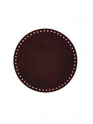 Дно для сумки круглое (16 см), цвет бордовый матовый