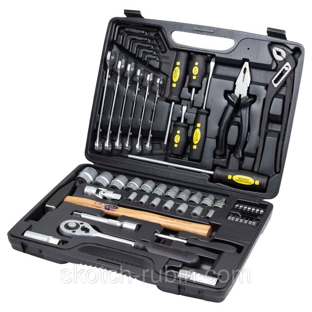 """Набор инструментов, ключей, насадок торцевых и бит Sigma ¼"""", ½"""" 59шт CrV Taiwan (6001031)"""