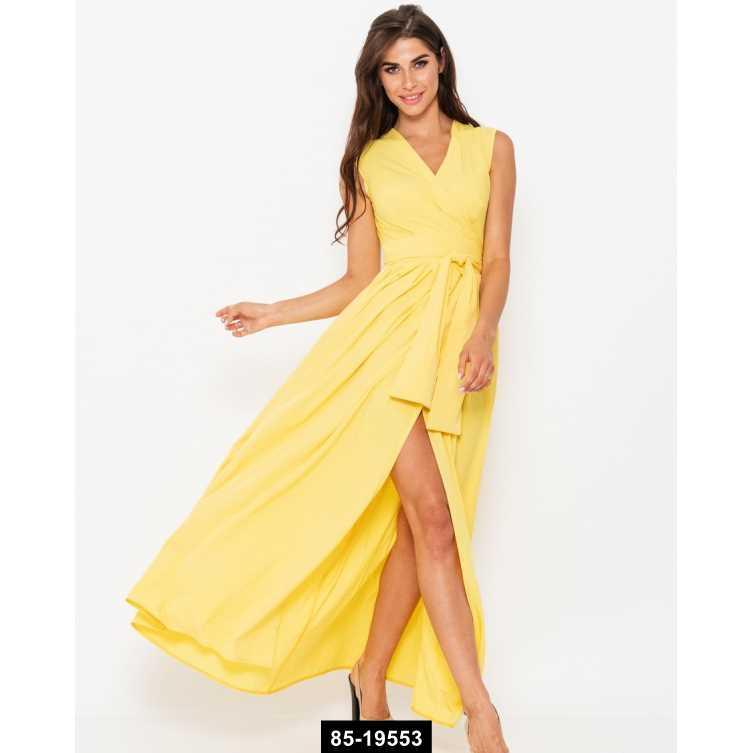 Платья  10909  M желтый, M-S размер международный, 85-19553