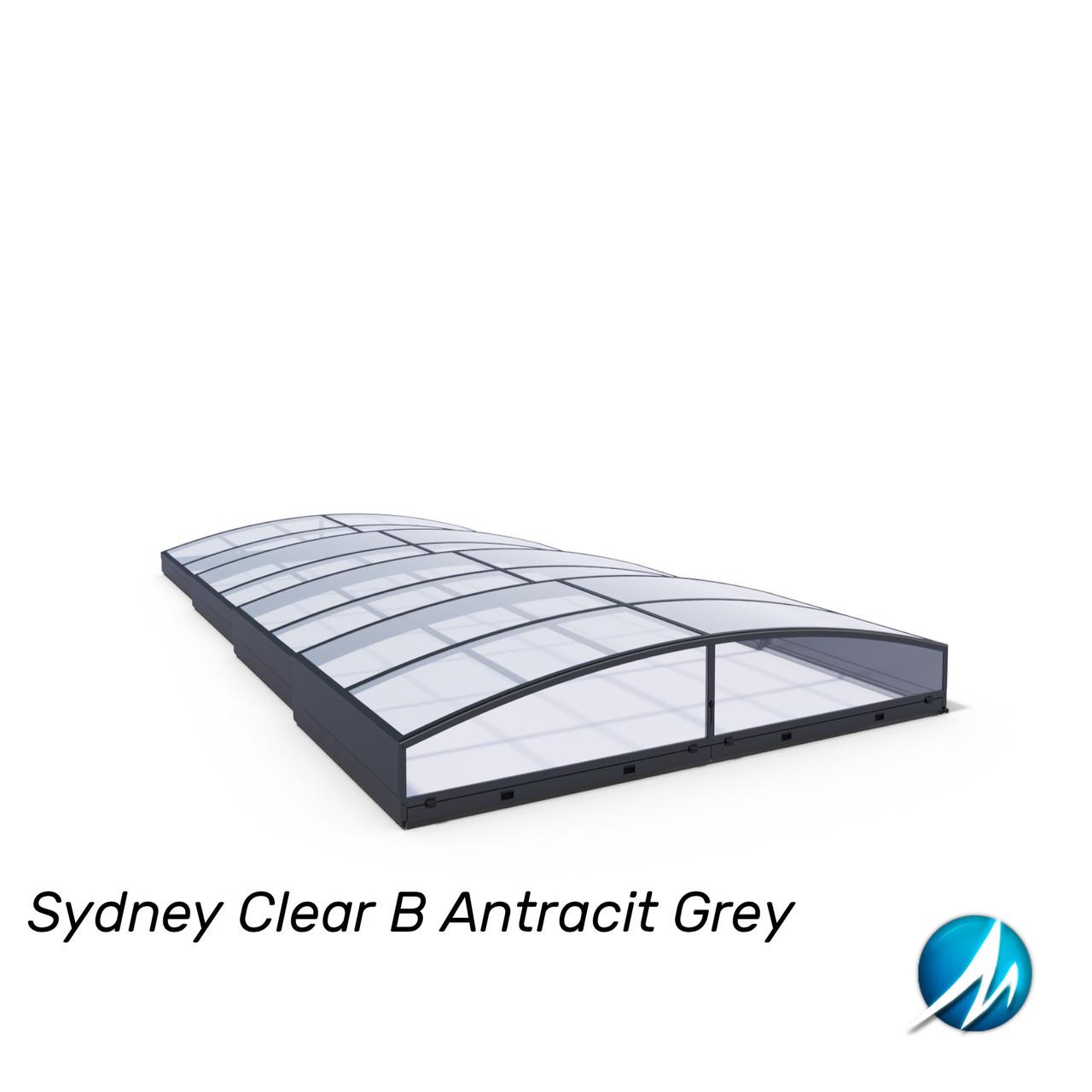 Павільйон для басейну Sydney Clear B 4,50х8,60х0,56м - Antracit Grey