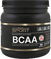 Аминокислотный комплекс California Gold Nutrition BCAA Powder AjiPure 454 gr 90 порц