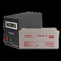Комплект резервного питания для котла Logicpower B500 + гелевая батарея 900ватт, фото 1