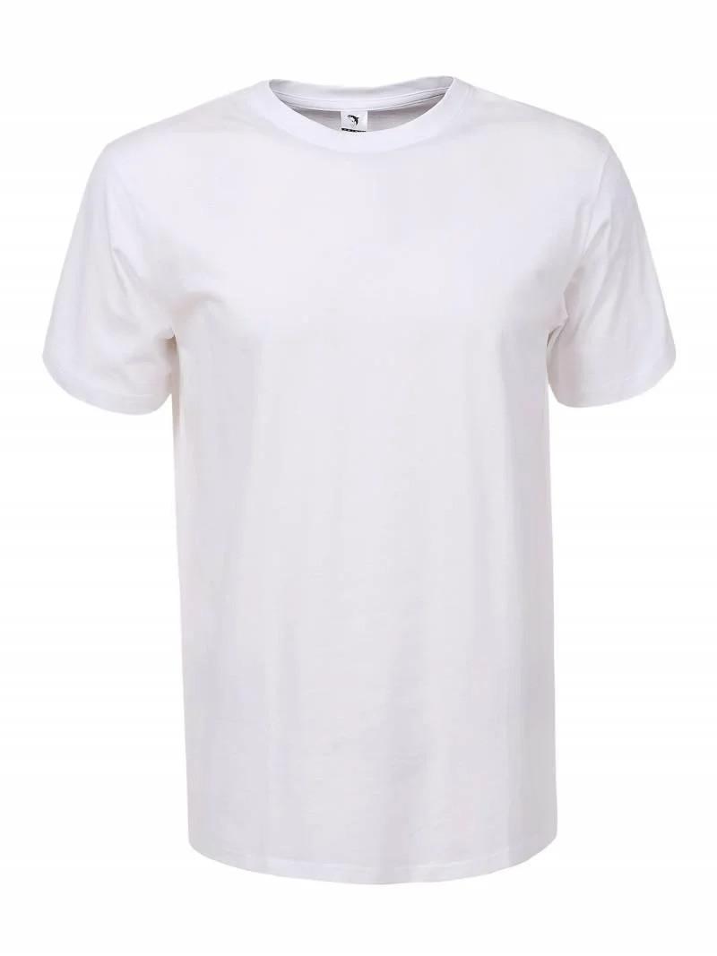 Мужская белая однотонная футболка в большом размере