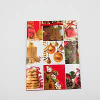 Пакеты подарочный бумажные ламинированные (новый год) средние 18*24*7 cм