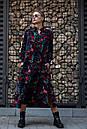 Сукня Тейлор чорне з листям Modna KAZKA, фото 4