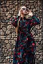 Сукня Тейлор чорне з листям Modna KAZKA, фото 2